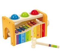 Non-Toxic Toys - Hape Pound And Tap Bench with Xylophone