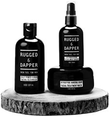 Non-Toxic Holiday Gift For Dad - Rugged And Dapper All-In-One Essential Skincare Set For Men