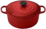 Non Toxic Cookware - Le Creuset Signature Enameled Cast Iron Dutch Oven 5.5 Qt