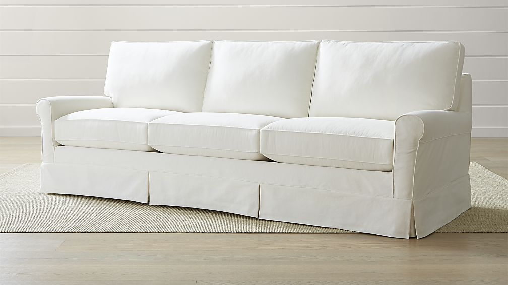 Sofa Without Flame Retardant Chemicals   Crate And Barrel Harborside Grande  Sofa
