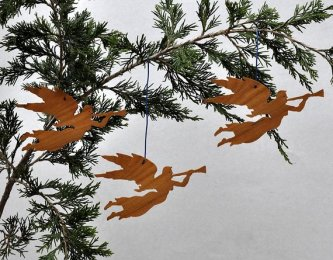 Non Toxic Christmas Decorations - Three Angel Christmas Ornaments