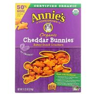Healthy Snacks For Kids - Annie's Homegrown Organic Cheddar Bunnies Baked Snack Crackers