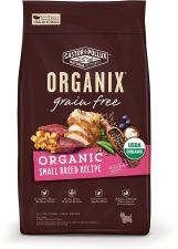 Non Toxic Dog Gifts - Castor & Pollux Organix Grain Free Organic Small Breed Recipe Recipe Dry Dog Food