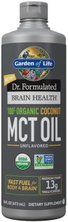 Healthy Cooking Oil - Garden of Life Dr. Formulated Brain Health 100% Organic Coconut MCT Oil