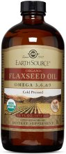Healthy Cooking Oil - Solgar Earth Source Organic Flaxseed Oil