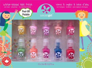 Non Toxic Kids Nail Polish - Suncoat Product Inc. Non Toxic Peelable Children's Nail Polish Set
