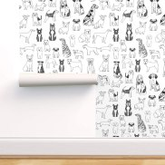 Non Toxic Wallpaper - Spoonflower Peel and Stick Removable Wallpaper