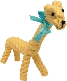 Non Toxic Dog Gifts - Jax and Bones Jerry the Giraffe Rope Toy
