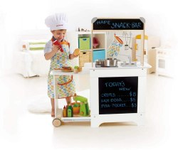Non Toxic Gifts For Preschoolers - Award Winning Hape Playfully Delicious Cook 'n Serve Wooden Play Kitchen