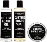 Non Toxic Cooking Utensil Finish - Caron & Doucet - Ultimate Cutting Board Maintenance Kit