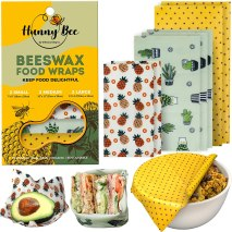 Non Toxic Food Wrap - HUNNYBEEE Beeswax Organic Cotton Food Wraps