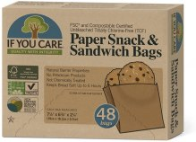 Non Toxic Unbleached Sandwich Bag - If You Care 100% Unbleached Paper Snack & Sandwich Bags