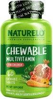Kids Organic Multivitamin - NATURELO Chewable Multivitamin for Children