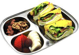Stainless Steel Dinnerware For Kids - Korean Stainless Steel Divided Plates by KS&E