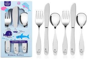 Stainless Steel Dinnerware For Kids - Lehoo Castle Kids Silverware Stainless Steel
