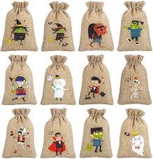 Non Toxic Halloween Bag for Kids - CCINEE 36pcs Burlap Halloween Party Bags Novelty Linen Jute Bags