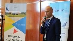 Directorul general TAROM, Wolff Werner Wilhelm. FOTO Aeroportul Timișoara