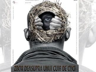 """Afișul piesei """"Zbor deasupra unui cuib de cuci"""". FOTO Teatrul Jean Bart Tulcea"""