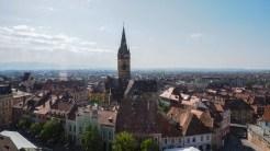 Turnul Sfatului îți poate oferi o priveliște minunată asupra întregului Sibiu. FOTO Cătălin SCHIPOR