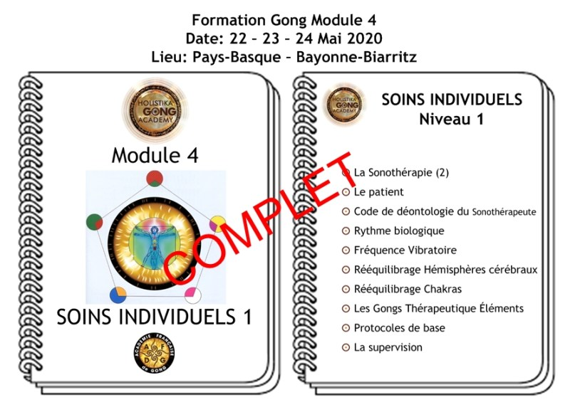 Formation Gong - Soins individuels Niveau 1 - Mai 2020 - Biarritz Bayonne
