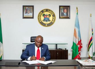 Akinwunmi Ambode Governor of Lagos State...seeking allegiance to new environmental laws