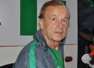 Gernot Rohr...forced to look at home based players by their displays