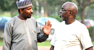 Shehu Dikko and Amaju Pinnick...going into fresh elections