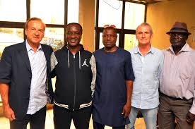 Coach Gernot ROhr with NFF Technical Department