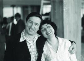 Yakov G. Sinai with his wife Elena B. Vul