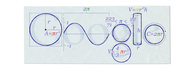 Pi Day Doodle by Google in 2010