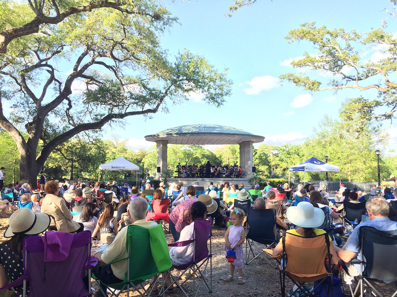 Music Under the Oaks serenades Audubon Park Sunday. Photo courtesy Audubon Park