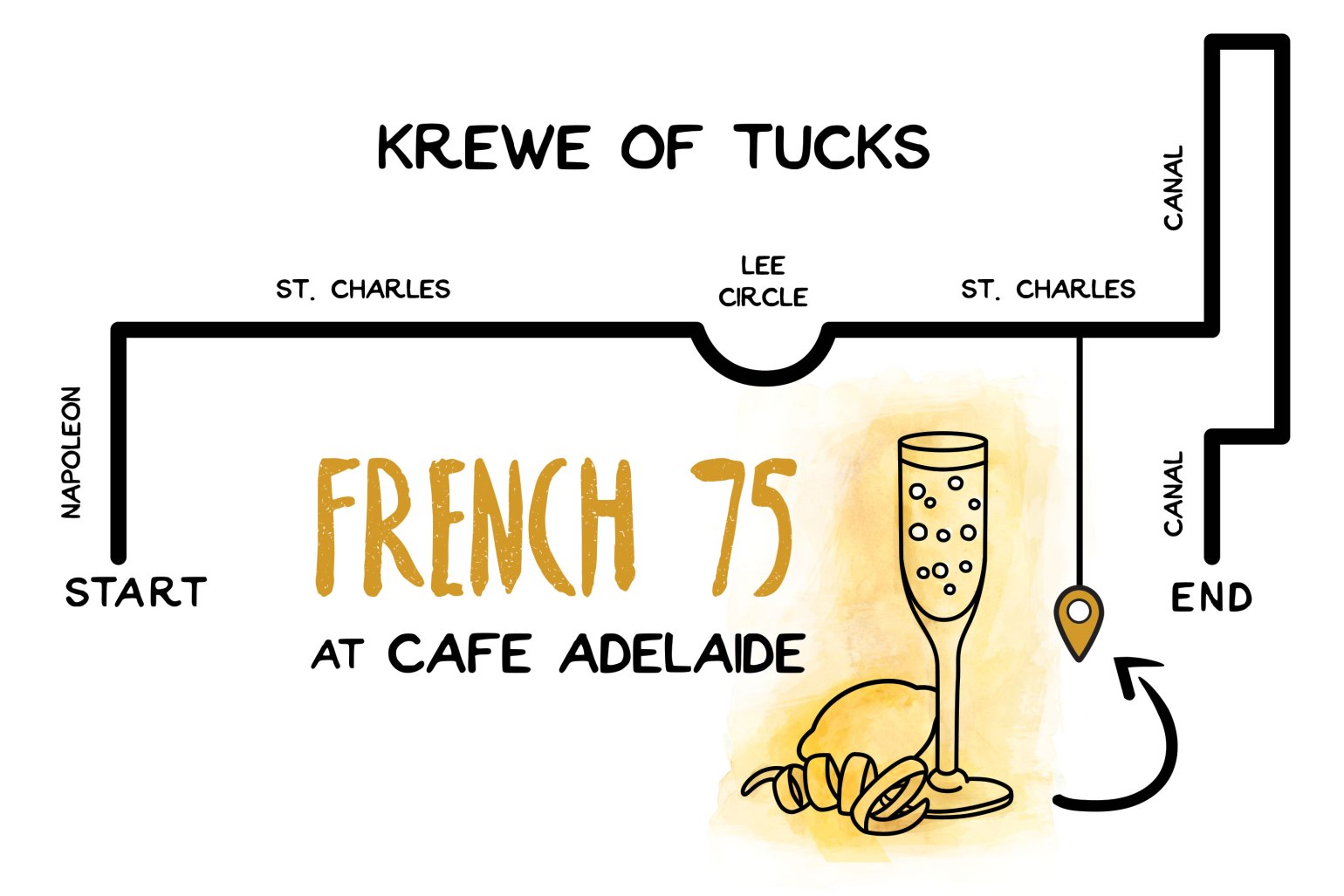 Parades and cocktails: French 75 at Cafe Adelaide