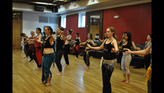 Belly dance class (photo courtesy Karla Marie Fine Art Photography)