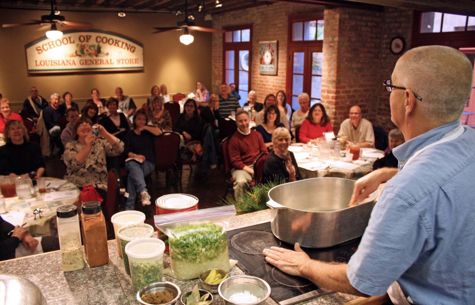 New Orleans School of Cooking Demonstration, courtesy of New Orleans School of Cooking