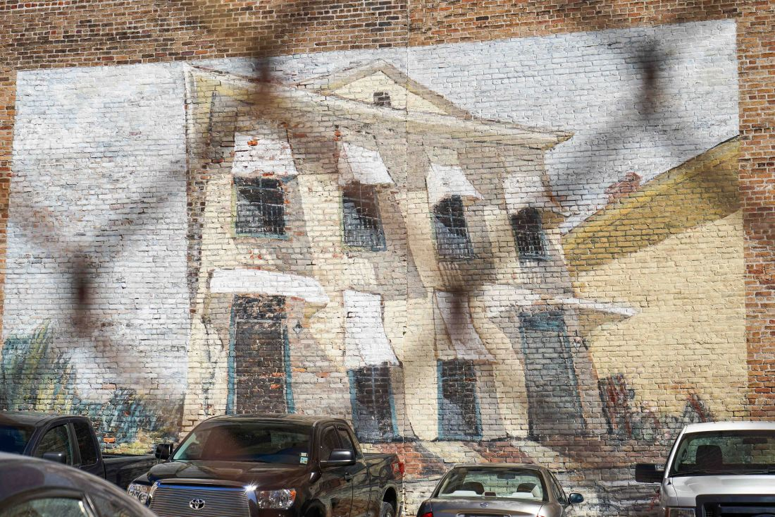 There's art everywhere you look! This mural from renowned New Orleans painter Michalopoulos is just one of many murals throughout the neighborhood. Look for the vintage Little Debbie ad nearby this mural!