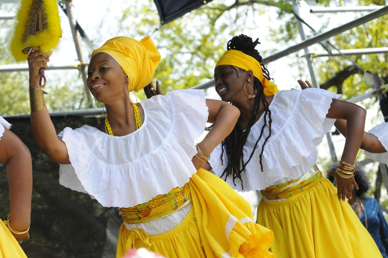 African dancers at Congo Square New World Rhythms Festival. (Photo: Cheryl Gerber)