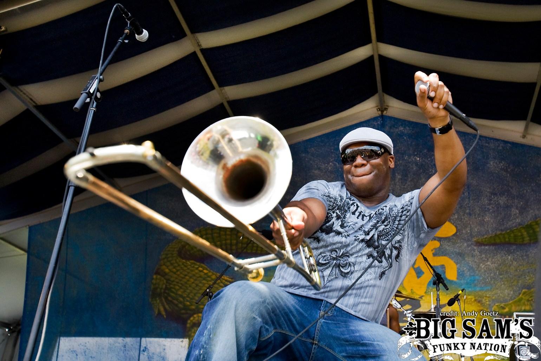 Big Sam performing at Jazz Fest 2009