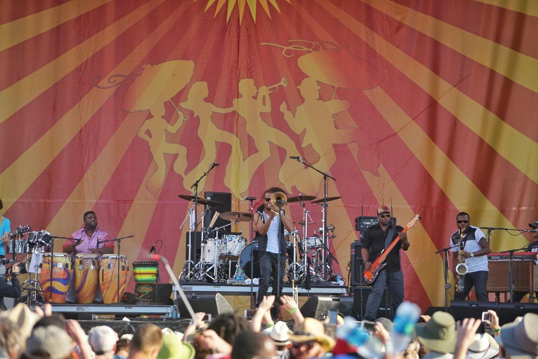 Trombone Shorty at Jazz Fest. (Photo: Paul Broussard)