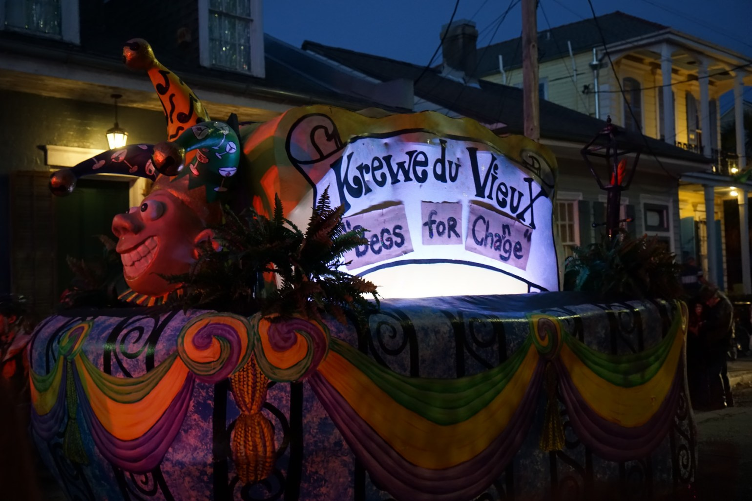 Krewe du Vieux parades on Saturday night. (Photo: Paul Broussard)