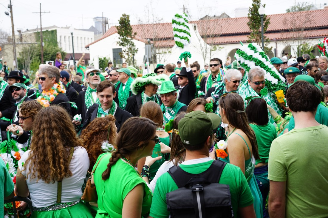 A sea of green at the Irish Channel Parade. (Photo: Paul Broussard)