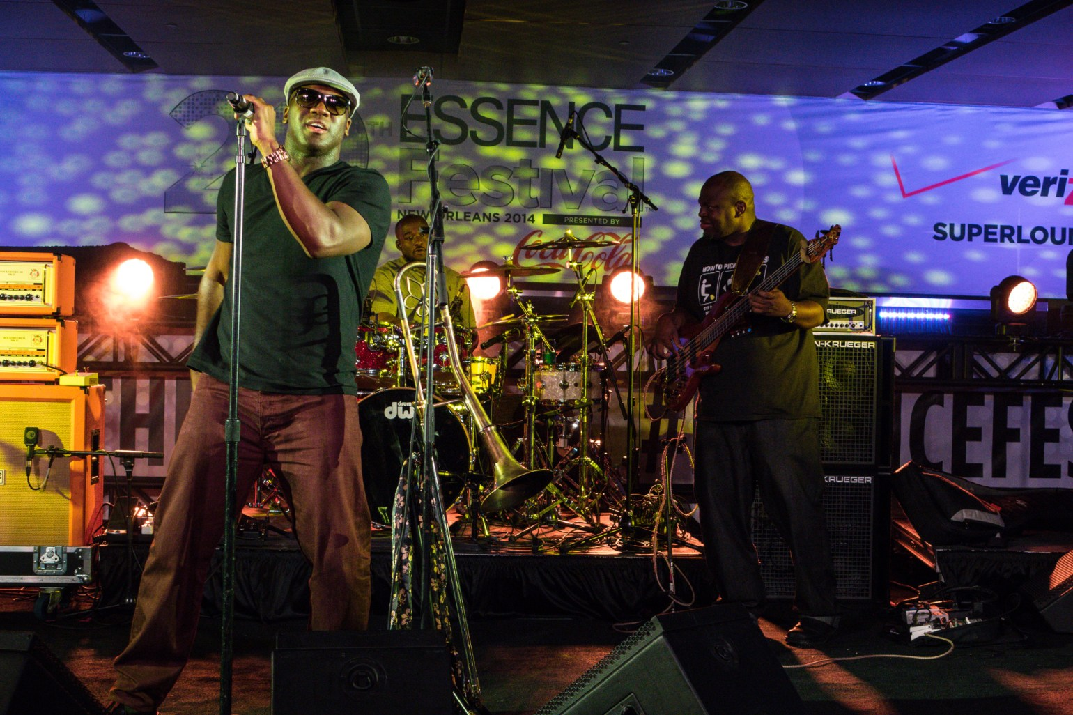 Local group Big Sam's Funky Nation performing at an ESSENCE Superlounge. (Photo: Paul Broussard)