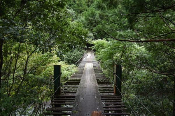 野々垣内の吊橋(佐久間橋)