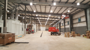 CREE LED high bay fixtures installed