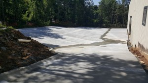 Rear driveway area complete