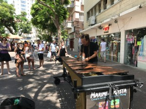 Man playing xylophone in Tel Aviv Markets