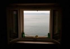 unwirklich der Blick aus dem Fenster!