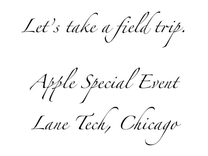 Let's take a field trip.