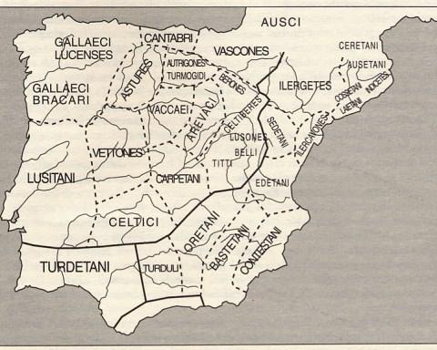 Figura 2-4: Etnias prerromanas de la península Ibérica. (Según Untermann 1987)