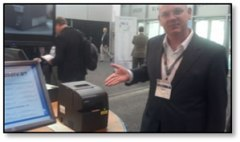 Sam with a thermal printer