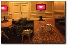 Oracle's Innovation Lounge. Have a seat... plenty of room.